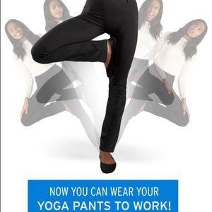 Betabrand black long dress pants